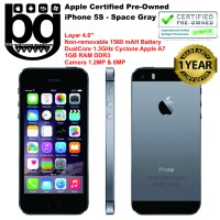 Apple Certified Pre Owned - iPhone 5S 16GB [Space Grey] Cod Bandung