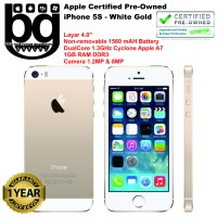 harga Apple Certified Pre Owned - iPhone 5S 16GB [White Gold] Cod Bandung Tokopedia.com