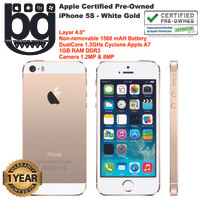 Apple Certified Pre Owned - iPhone 5S 64 GB [White Gold] Cod Bandung