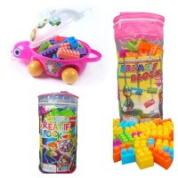 Ocean Toy Paket Creative Block Full Color Isi 3Pcs Mainan Edukasi Anak