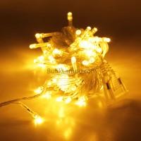 Lampu Natal LED / Twingkle LED Kuning Plus Steker Sambung