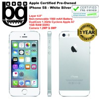 harga Apple Certified Pre Owned - iPhone 5S 64GB [White Silver] Cod Bamdung Tokopedia.com