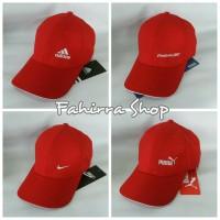 Topi Sport Merah Murah Merk Adidas, Nike, Filla, Reebok dan Puma