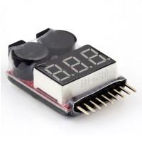 Battery Voltage Tester Checker Low Voltage Buzzer Alarm RC Multicopter