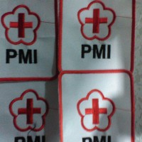 Badge Bet logo bordir PMI (Palang Merah Indonesia)