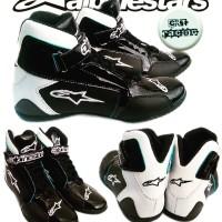 harga sepatu drag alpinestar black white Tokopedia.com