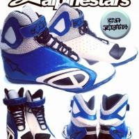 harga Sepatu Drag Alpinestar Putih Biru Kpro Tokopedia.com