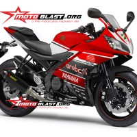 Decal stiker Yamaha R15 - Ducati Aruba IT WSBK Ver 1