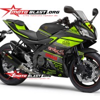 Decal stiker Yamaha R15 - Ducati Aruba IT WSBK Black Green Version