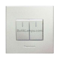 Saklar Seri Hotel Lampu Panasonic Style Silver