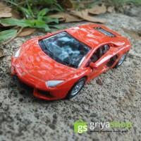 Diecast Lamborghini aventador skala 1:60 Jingga - Welly