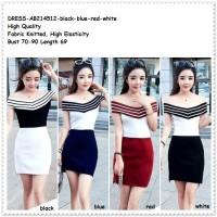 Baju Dress Sabrina Blouse Off Cold Shoulder Wanita Korea Import Murah