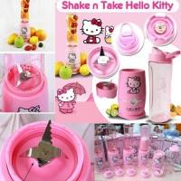 blender buah shake n take Hello Kitty 1 cup pink juicer mini kecil
