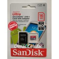 Jual Sandisk Micro Sd 16 Gb / 16Gb Class 10 80 Mbps / 80Mbps Microsd Murah
