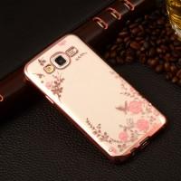 Flower Softcase Samsung galaxy J5 ( transparan motif bunga )