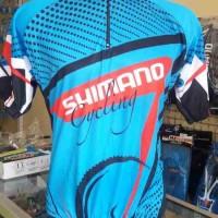 Kaos/Jersey Sepeda Shimano Cycling Biru Lengan Pendek MURAH