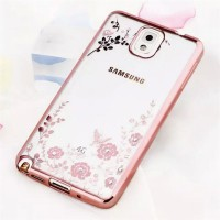 Casing HP Samsung Note 3 Note 4 Note 5 Flower Diamond Case Cover