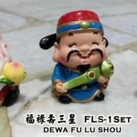harga Patung Budha Dewa Keberuntungan, Rejeki, Panjang Umur (Fu Lu Shou) Tokopedia.com