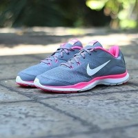 "NIKE FLEX TR 5 WOMEN ""COOL GREY/VIVID PINK"" ORIGINAL MADE IN INDONESIA"
