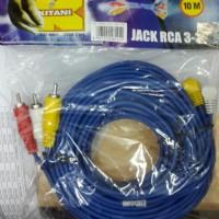 Kabel RCA AV Audio Vedio TV parabola DVD Merk Kitani 10 m
