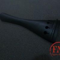 tailpiece biola 4/4 kayu warna hitam