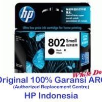 Cartridge Tinta HP 802 Small Black Hitam (s/d 120 pages)