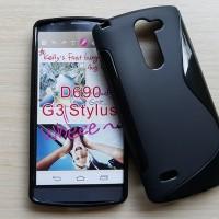 Silikon Case + screenguard LG G3 Stylus / casing soft back softcase