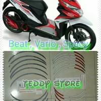 Wheel Rim Stickers Stiker List Velg Honda Beat Spacy Vario 110 125 150