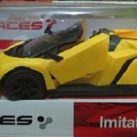 Mainan Remote Control Mobil Sport Kuning Imitation Racing 1:14