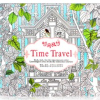 Buku Mewarnaik Secret Garden Time Travel Coloring Book