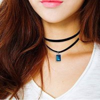 Jual Kalung Fashion Choker gemstone pendant necklace Murah
