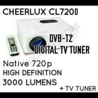 Cheerlux CL720 Proyektor Projector 3000 Lumens TV Tuner Analog Digital