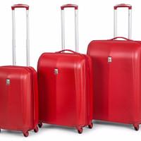 Delsey Extendo-3 4W Expandable Trolley Case 3-Piece Set - 100%