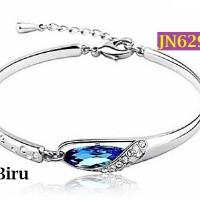 Gelang Wanita Glass Slipper Crystal 925 Sterling Silver - JN629