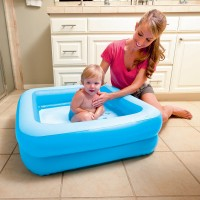 Kolam Bayi Baby Steps Kotak Bestway #51116 - Biru