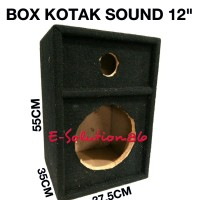 "Box Speaker 12"" 12 inch Box Audio Sound Kotak / Salon, Speaker Bulat"
