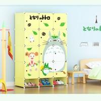 harga lemari rak baju totoro design tororo interior kamar furniture grosir Tokopedia.com