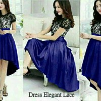 Jual Dress Elegant Lace Navy Murah