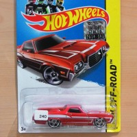 HOT WHEELS '72 FORD RANCHERO RED PICKUP FACTORY SEALED 2014 #134/250