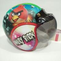 Helm Anak Retro Lucu Model Spt Bogo Fizi Motif Angry Bird Terbaru