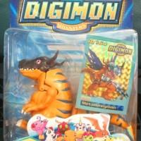 Action Figure Digimon Digivolving Greymon evo Metalgreymon Ori Bandai