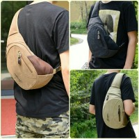 Tas slempang pria kanvas / Tas pinggang selempang sling shoulder bag