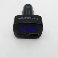 Jual 4in1 Car Charger, Voltmeter, AmpereMeter, Temperature, 3.1A output VST Murah