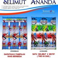 Selimut Ananda - Spiderman + Avengers
