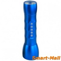Multifunction LED Flashlight With MP3 Player Support TF Card Slot With