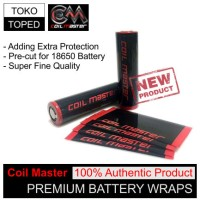 Authentic Coil Master 18650 Battery Wrap | for mod vapor vaporizer