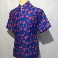 Jual Kemeja Batik Pria Baju Batik Cowok Batik Koko Muslim Shanghai BKT6 Murah