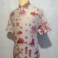 Jual Kemeja Batik Pria Baju Batik Cowok Batik Koko Muslim Shanghai BKT4 Murah