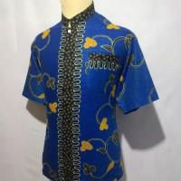 Jual Kemeja Batik Pria Baju Batik Cowok Batik Koko Muslim Shanghai BKT7 Murah