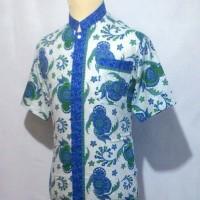 Jual Kemeja Batik Pria Baju Batik Cowok Batik Koko Muslim Shanghai BKT3 Murah